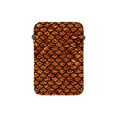Scales1 Black Marble & Copper Foil (r) Apple Ipad Mini Protective Soft Cases by trendistuff