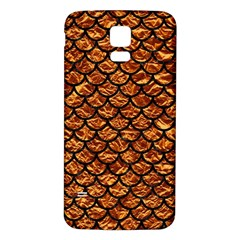 Scales1 Black Marble & Copper Foil (r) Samsung Galaxy S5 Back Case (white) by trendistuff