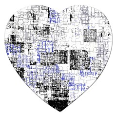 Abstract Art Jigsaw Puzzle (heart) by ValentinaDesign