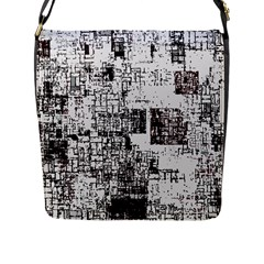Abstract Art Flap Messenger Bag (l)  by ValentinaDesign