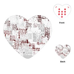 Abstract Art Playing Cards (heart)  by ValentinaDesign