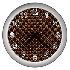 Scales2 Black Marble & Copper Foilscales2 Black Marble & Copper Foil Wall Clocks (silver)