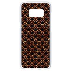 Scales2 Black Marble & Copper Foilscales2 Black Marble & Copper Foil Samsung Galaxy S8 White Seamless Case by trendistuff