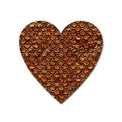 Scales2 Black Marble & Copper Foil (r) Heart Magnet by trendistuff