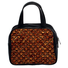 Scales2 Black Marble & Copper Foil (r) Classic Handbags (2 Sides) by trendistuff