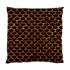 Scales3 Black Marble & Copper Foil Standard Cushion Case (two Sides) by trendistuff