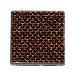 Scales3 Black Marble & Copper Foil Memory Card Reader (square) by trendistuff