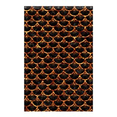 Scales3 Black Marble & Copper Foil Shower Curtain 48  X 72  (small)  by trendistuff