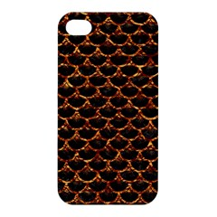 Scales3 Black Marble & Copper Foil Apple Iphone 4/4s Hardshell Case by trendistuff