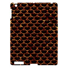 Scales3 Black Marble & Copper Foil Apple Ipad 3/4 Hardshell Case by trendistuff