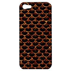 Scales3 Black Marble & Copper Foil Apple Iphone 5 Hardshell Case by trendistuff