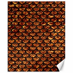 Scales3 Black Marble & Copper Foil (r) Canvas 16  X 20   by trendistuff