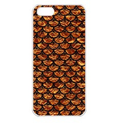 Scales3 Black Marble & Copper Foil (r) Apple Iphone 5 Seamless Case (white)
