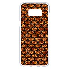 Scales3 Black Marble & Copper Foil (r) Samsung Galaxy S8 Plus White Seamless Case by trendistuff