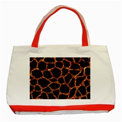Skin1 Black Marble & Copper Foil (r) Classic Tote Bag (red) by trendistuff