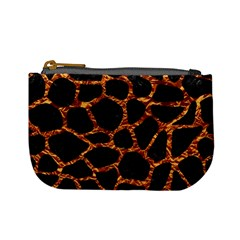 Skin1 Black Marble & Copper Foil (r) Mini Coin Purses by trendistuff