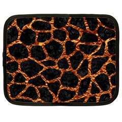 Skin1 Black Marble & Copper Foil (r) Netbook Case (xl)