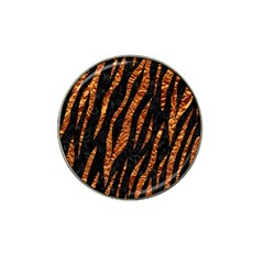 Skin3 Black Marble & Copper Foil Hat Clip Ball Marker (4 Pack) by trendistuff