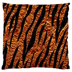 Skin3 Black Marble & Copper Foil (r) Large Cushion Case (two Sides) by trendistuff