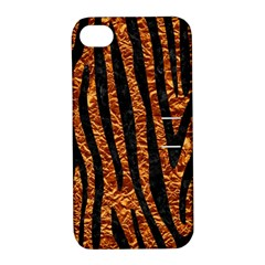 Skin4 Black Marble & Copper Foil Apple Iphone 4/4s Hardshell Case With Stand by trendistuff