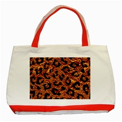 Skin5 Black Marble & Copper Foil Classic Tote Bag (red) by trendistuff