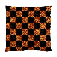 Square1 Black Marble & Copper Foil Standard Cushion Case (two Sides) by trendistuff