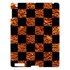 Square1 Black Marble & Copper Foil Apple Ipad 3/4 Hardshell Case by trendistuff