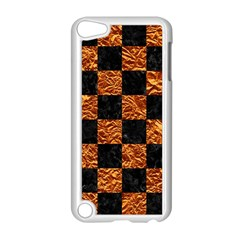 Square1 Black Marble & Copper Foil Apple Ipod Touch 5 Case (white) by trendistuff