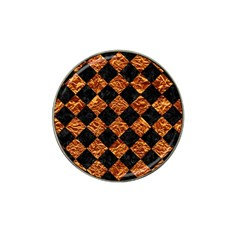 Square2 Black Marble & Copper Foilsquare2 Black Marble & Copper Foil Hat Clip Ball Marker by trendistuff