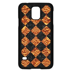 Square2 Black Marble & Copper Foilsquare2 Black Marble & Copper Foil Samsung Galaxy S5 Case (black) by trendistuff