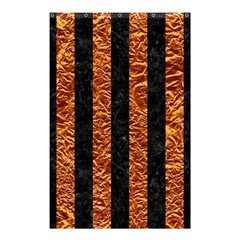 Stripes1 Black Marble & Copper Foil Shower Curtain 48  X 72  (small)  by trendistuff