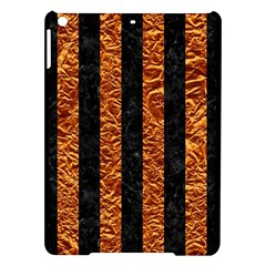 Stripes1 Black Marble & Copper Foil Ipad Air Hardshell Cases by trendistuff