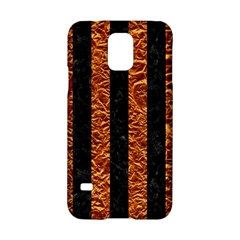 Stripes1 Black Marble & Copper Foil Samsung Galaxy S5 Hardshell Case  by trendistuff