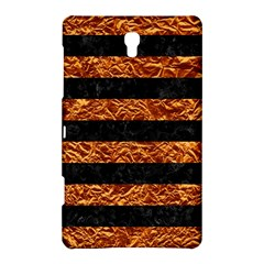 Stripes2 Black Marble & Copper Foil Samsung Galaxy Tab S (8 4 ) Hardshell Case  by trendistuff