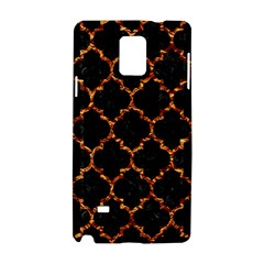 Tile1 Black Marble & Copper Foil Samsung Galaxy Note 4 Hardshell Case by trendistuff