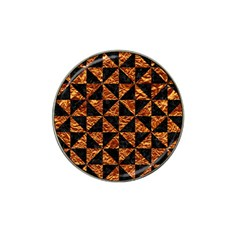 Triangle1 Black Marble & Copper Foil Hat Clip Ball Marker (4 Pack) by trendistuff