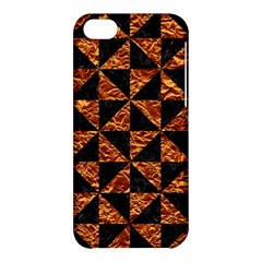 Triangle1 Black Marble & Copper Foil Apple Iphone 5c Hardshell Case by trendistuff