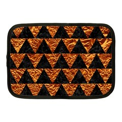Triangle2 Black Marble & Copper Foil Netbook Case (medium)  by trendistuff