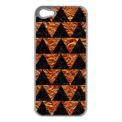 Triangle2 Black Marble & Copper Foil Apple Iphone 5 Case (silver) by trendistuff