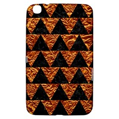Triangle2 Black Marble & Copper Foil Samsung Galaxy Tab 3 (8 ) T3100 Hardshell Case  by trendistuff