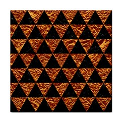 Triangle3 Black Marble & Copper Foil Face Towel by trendistuff