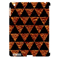 Triangle3 Black Marble & Copper Foil Apple Ipad 3/4 Hardshell Case (compatible With Smart Cover) by trendistuff