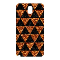Triangle3 Black Marble & Copper Foil Samsung Galaxy Note 3 N9005 Hardshell Back Case by trendistuff
