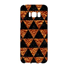 Triangle3 Black Marble & Copper Foil Samsung Galaxy S8 Hardshell Case  by trendistuff