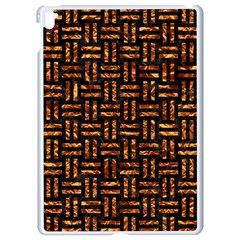 Woven1 Black Marble & Copper Foil Apple Ipad Pro 9 7   White Seamless Case by trendistuff