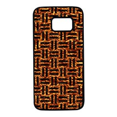 Woven1 Black Marble & Copper Foil (r) Samsung Galaxy S7 Black Seamless Case by trendistuff