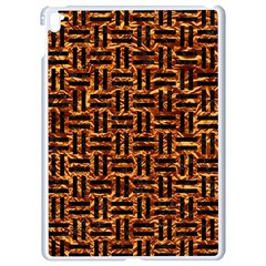 Woven1 Black Marble & Copper Foil (r) Apple Ipad Pro 9 7   White Seamless Case by trendistuff
