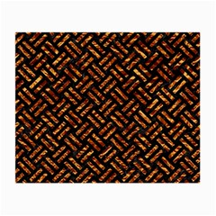 Woven2 Black Marble & Copper Foil Small Glasses Cloth (2 Side) by trendistuff