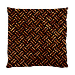 Woven2 Black Marble & Copper Foil Standard Cushion Case (one Side) by trendistuff