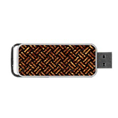 Woven2 Black Marble & Copper Foil Portable Usb Flash (one Side) by trendistuff